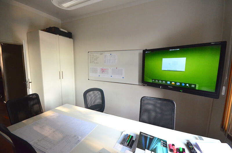 huddle room with interactive display