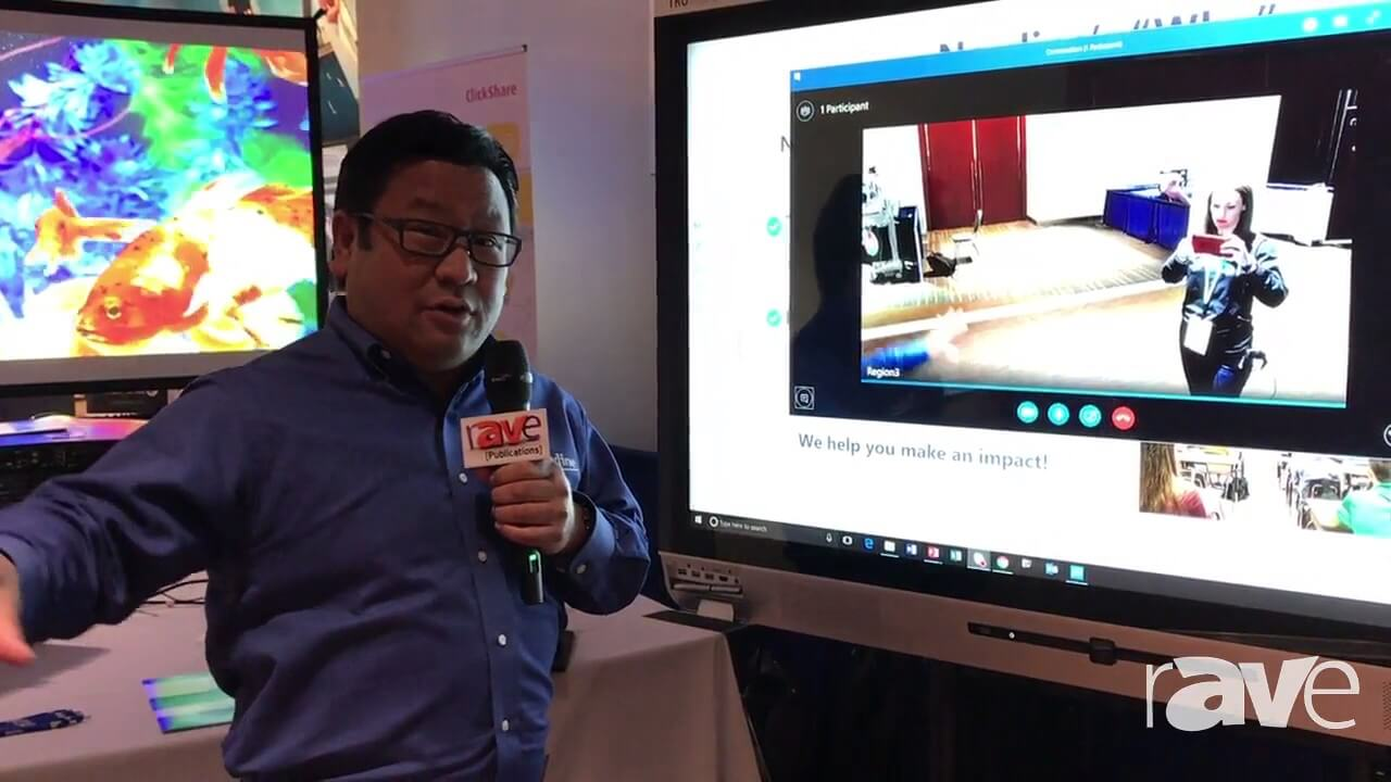 AVI LIVE Newline Interactive Demos X5 Interactive Display for Unified Communications