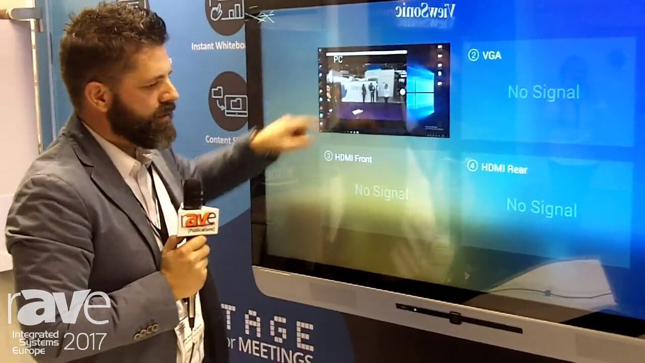 ISE 2017 Newline Interactive Demos TruTouch X5
