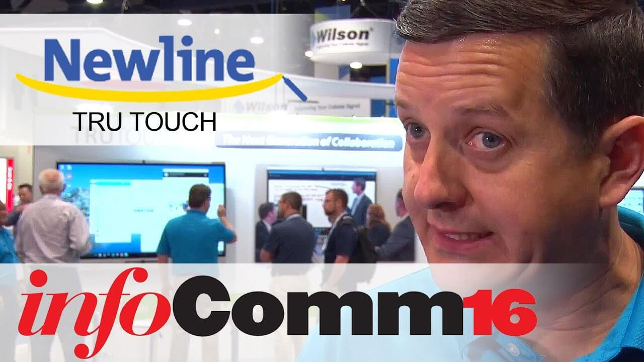 InfoComm 2016 Newline TRUTOUCH X Series brings easy collaboration for all AVTV On Demand