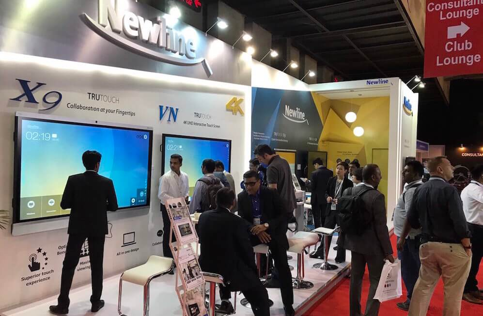 Debut of Newline's collaboration display at InfoComm India 2017