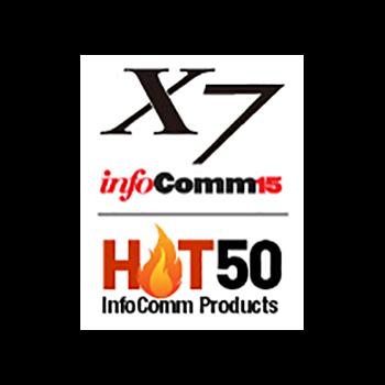 TRUTOUCH X系列在 Infocomm 2015上被列為 Hot 50產品,在全美最大的 A/V貿易展上引起了前 50名創新產品的關注。
