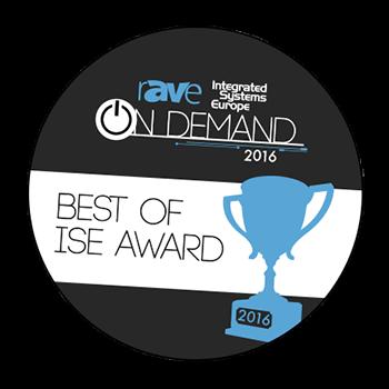 rAVe出版社在 ISE 2016上授予 TRUTOUCH X5最佳創新互動平板顯示器獎。