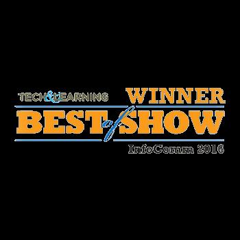 針對其課堂上的成就,TRUTOUCH互動式顯示器被Tech & Learning評選為 InfoComm 2016的 Best of Show