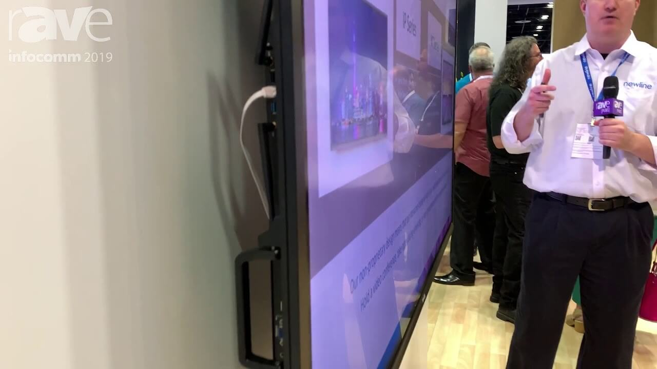 InfoComm 2019 Newline Interactive Adds IP75 75 Interactive Display With Linux Capacitive Touch