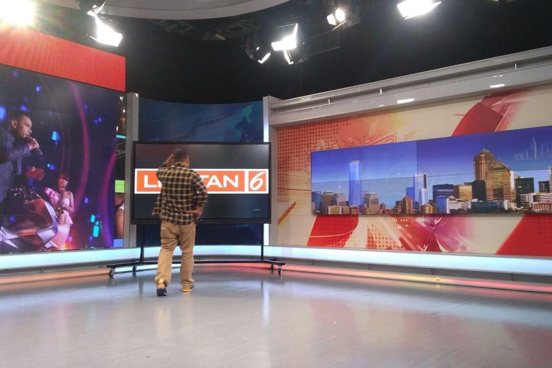 SCTV live broadcast studio with newline