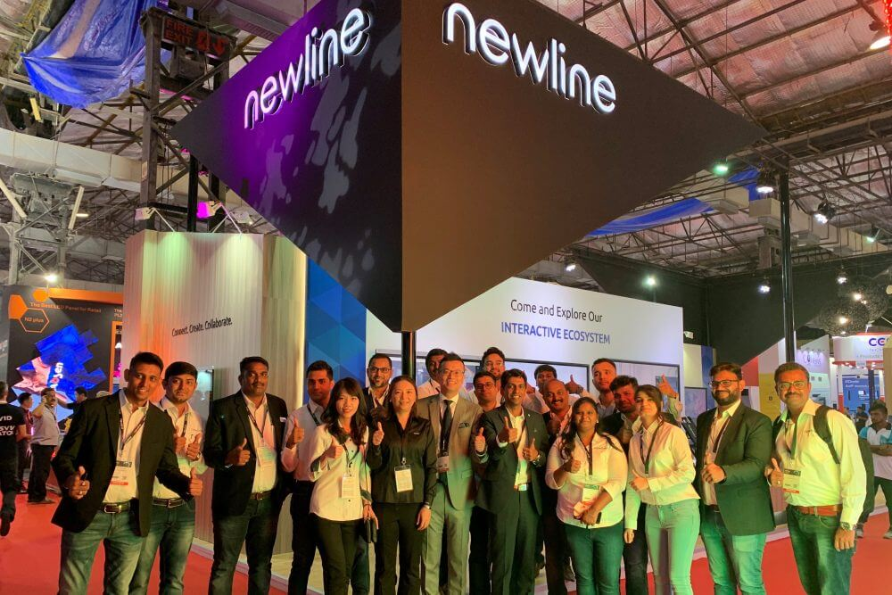 newline in InfoComm India