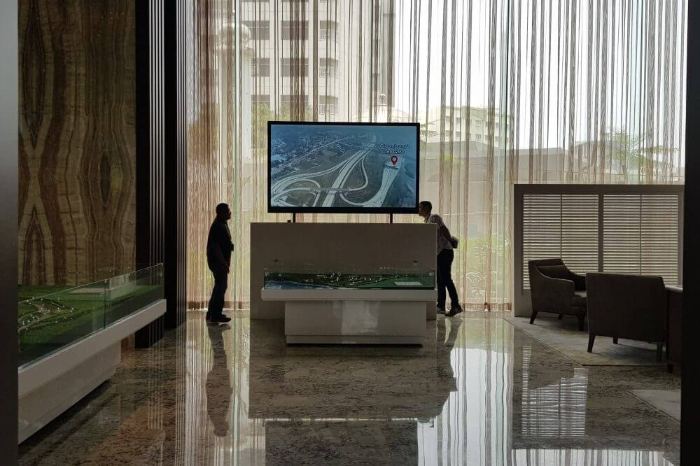TRUMP Organization with newline interactive display