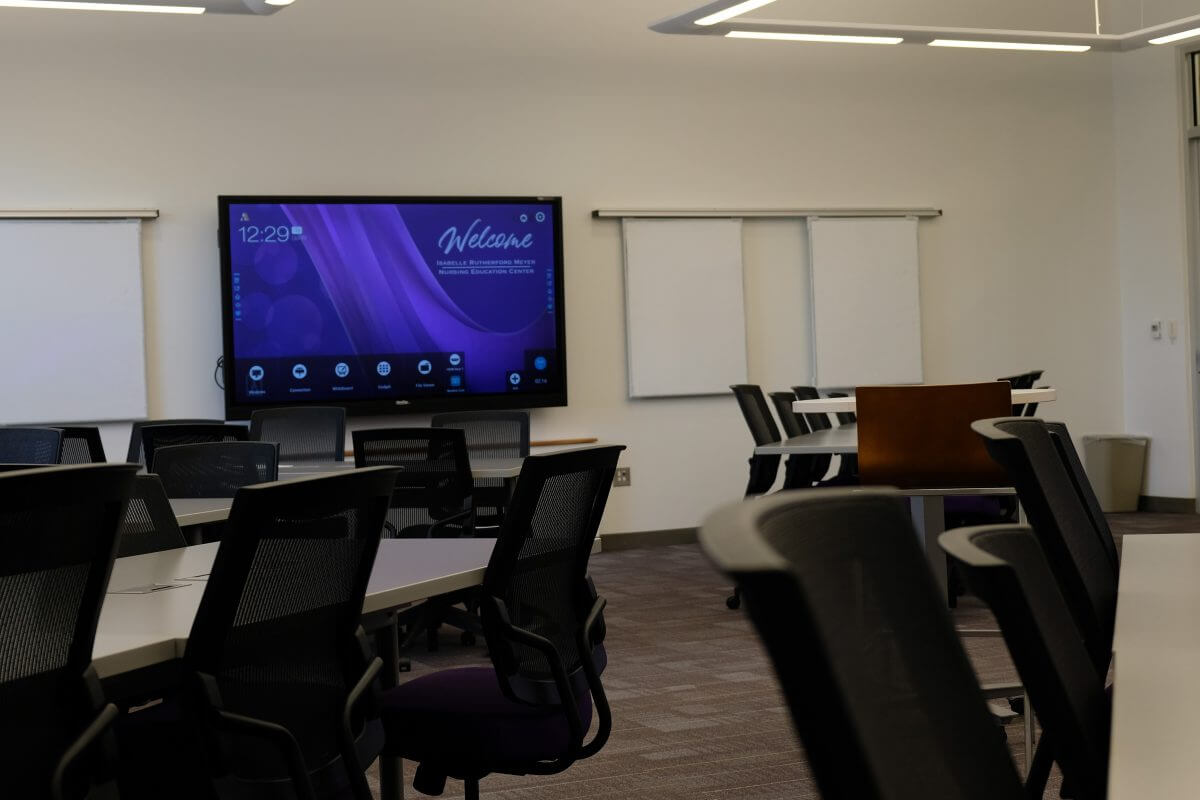 interactive display for education classroom