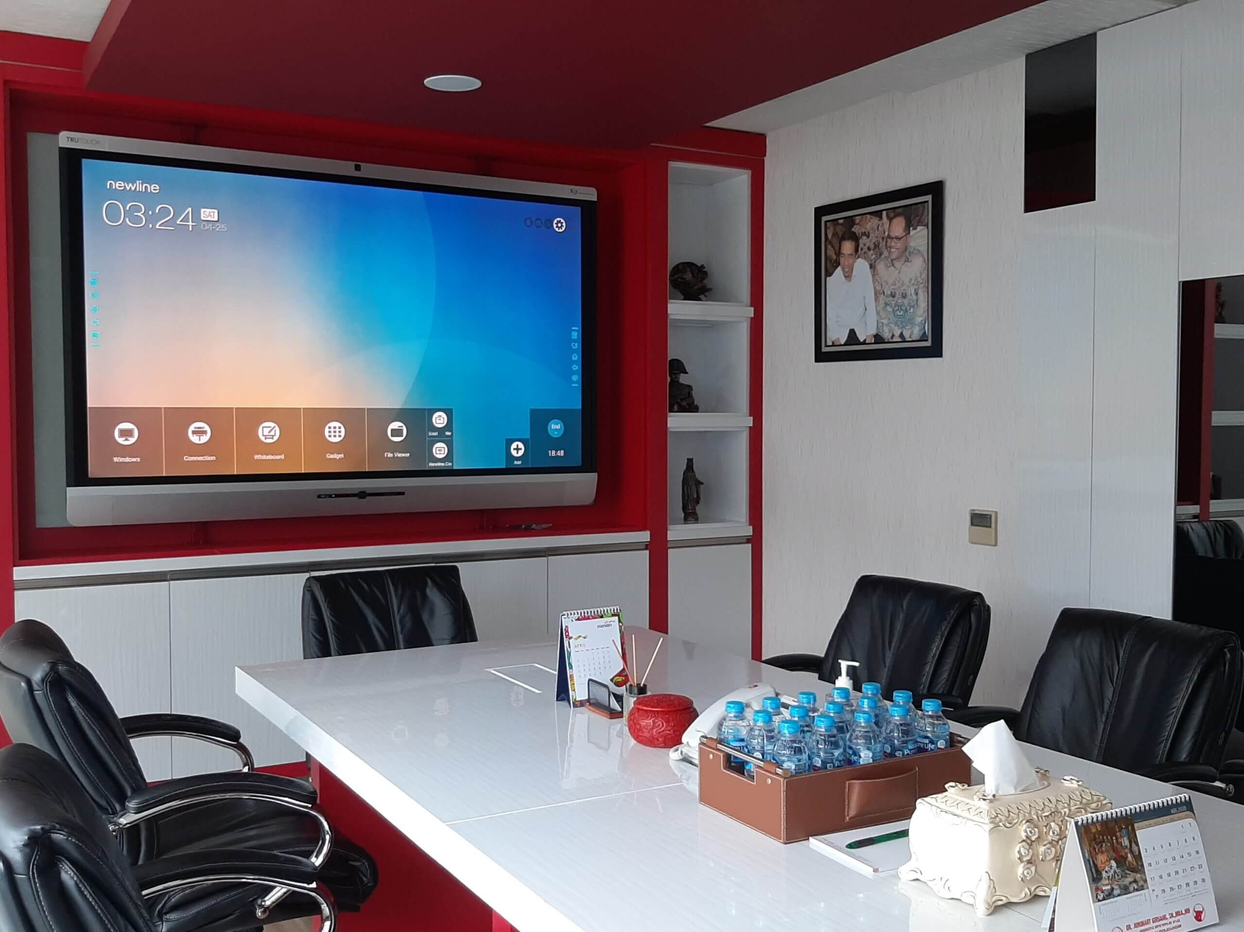 meeting room with smart display