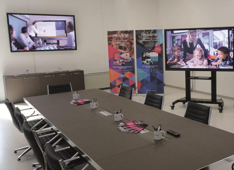 Showroom Newline: touchscreen e soluzioni complete per corporate ed education