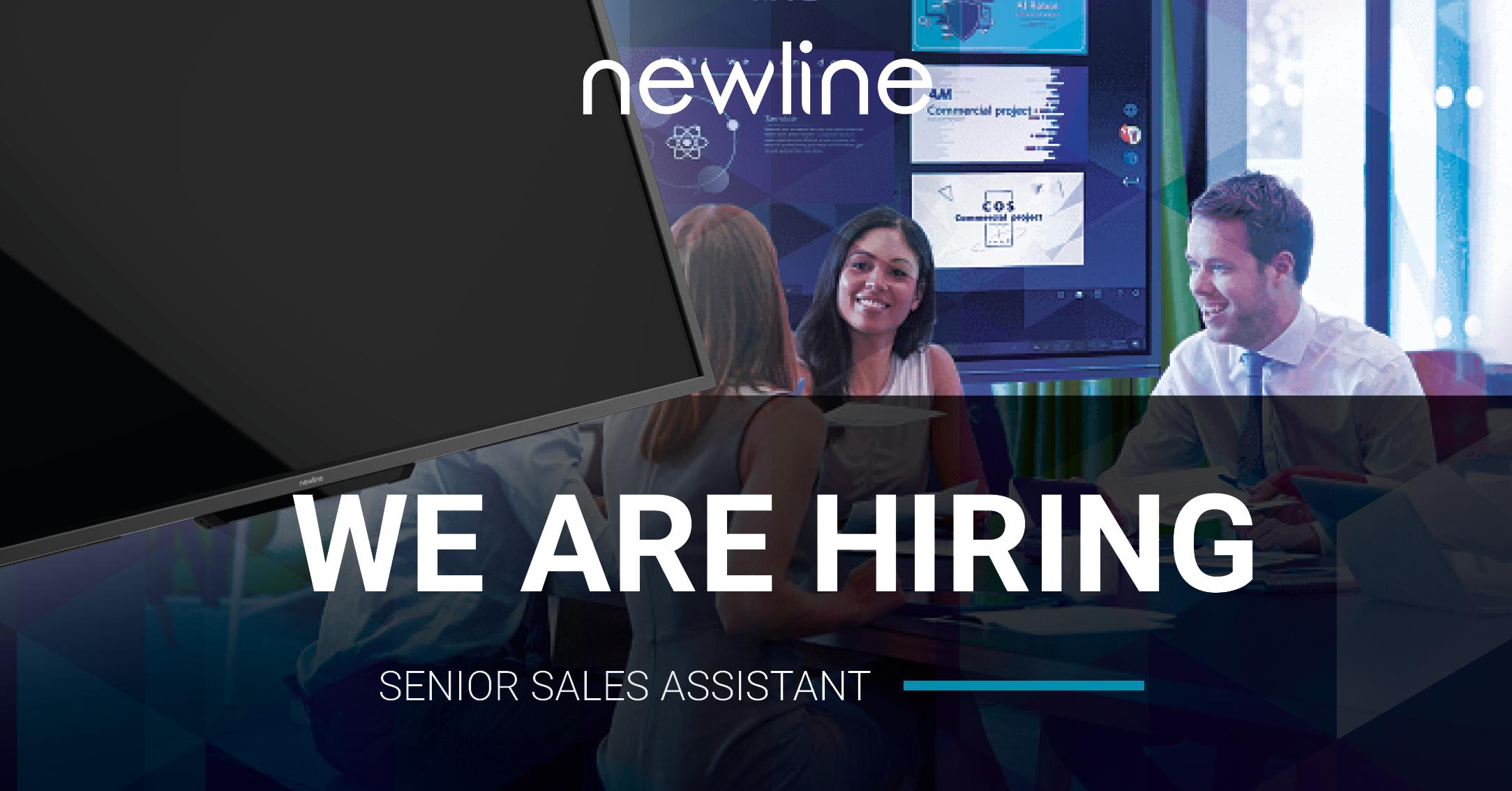Newline is Hiring! Senior Sales Assistant